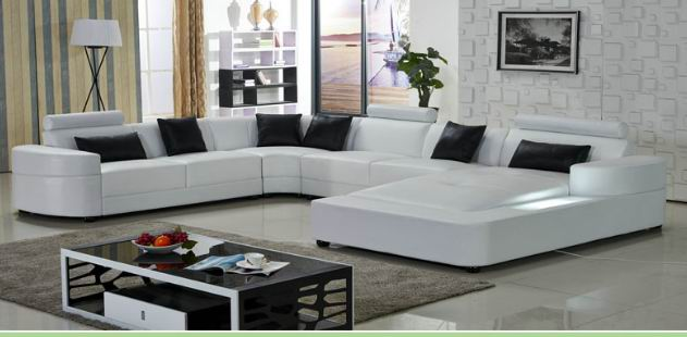 Sectional Modern  Leisure leather Sofa