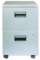 4 Drawer Metal Filer with Casters