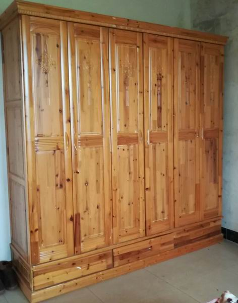 Full Solid pine wood Wardrobe