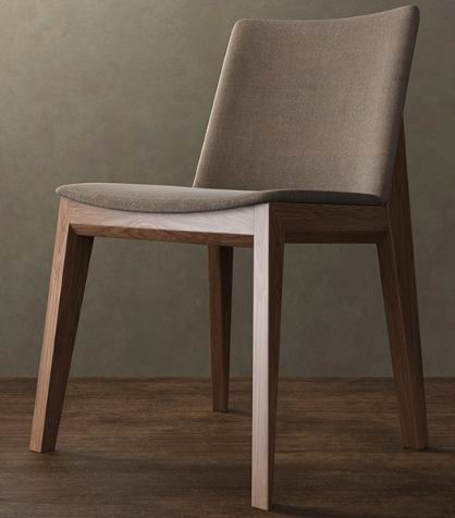 Nordic style Solid Ash wood Dining side Chair