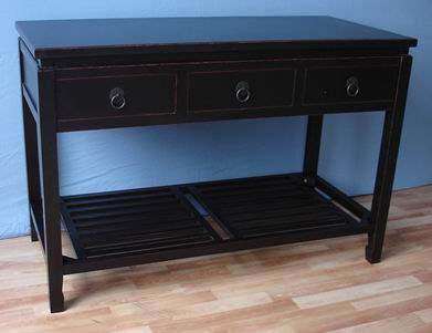 Desk with 3 drawers + bottom shelf