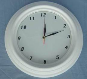 Clock full white finished