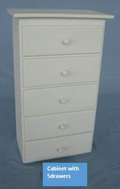 Antique white finish Cabinet 3 drawers and 5 drawers