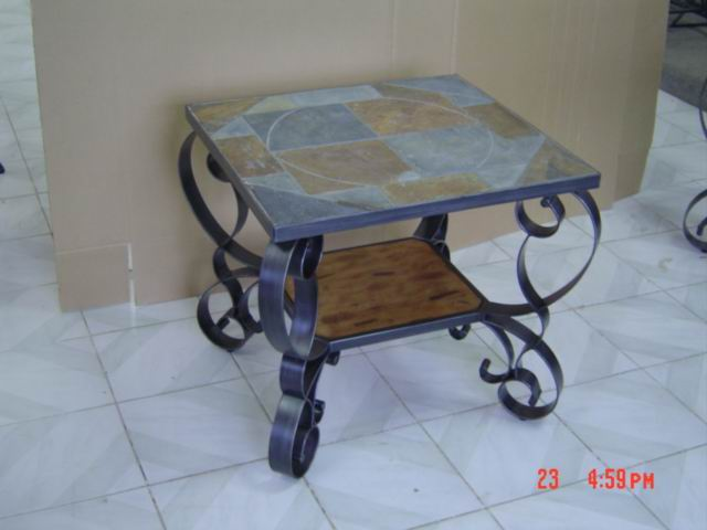 End Table with Slate top