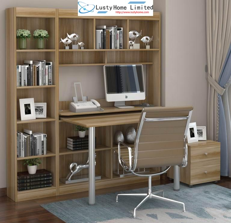 Combination Furniture-Computer Table and Bookcase