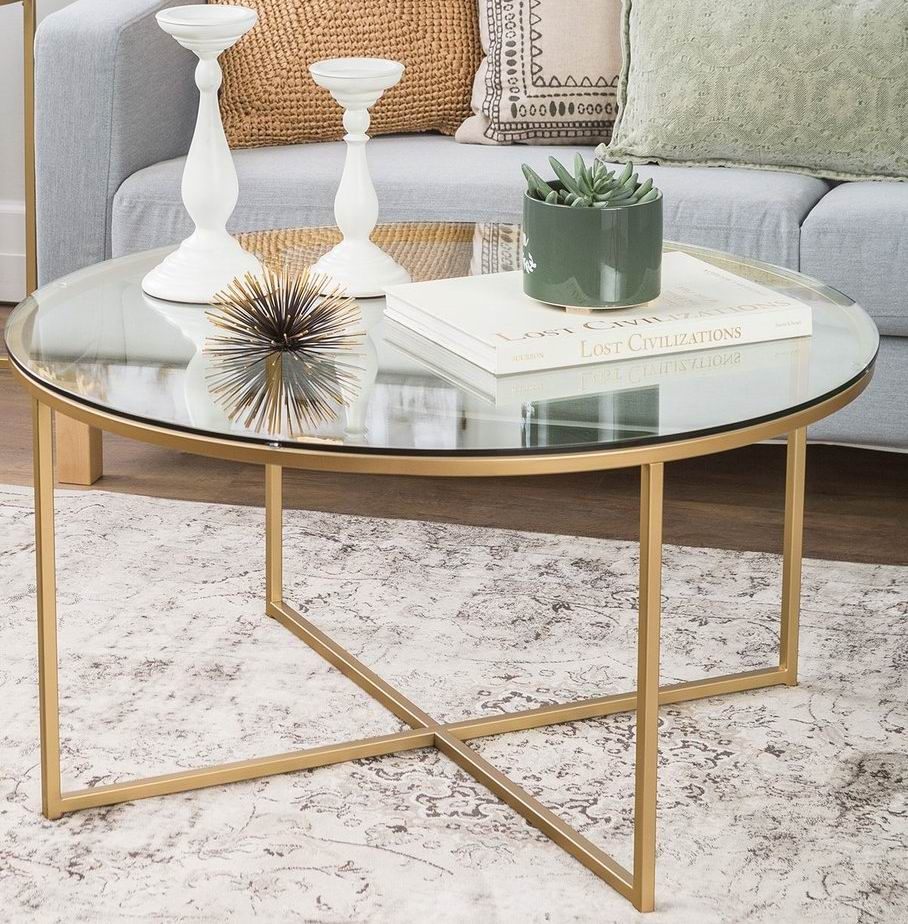 Coffee Table with metal frame base