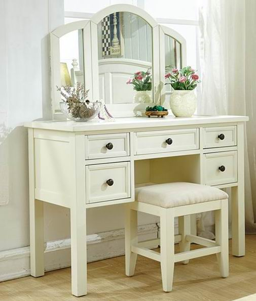 Solid tulipwood dressing table of American style