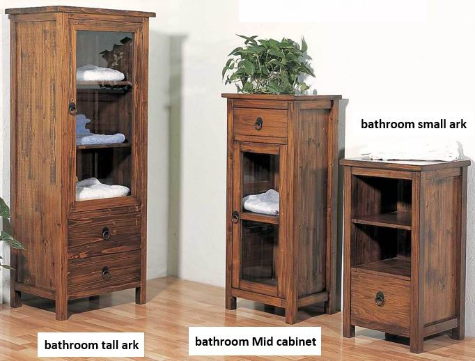Fir wood washing room cabinet collections