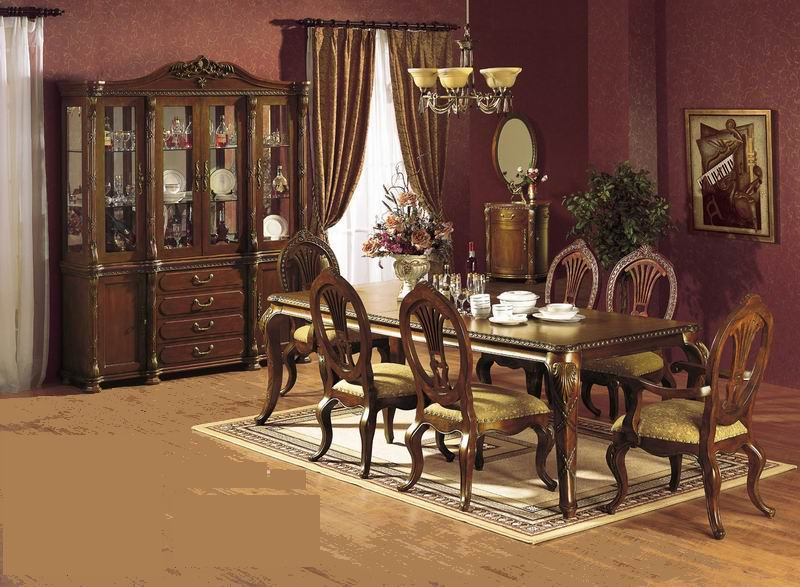 American Antique & carving dining room furniture 300 series