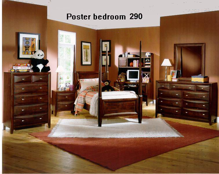 Poster bed with Drawer panel in diamond design bedroom 290 series