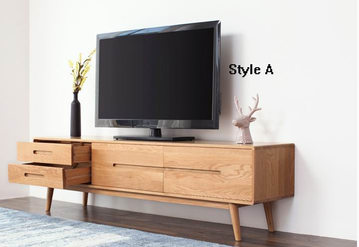 ... TV Cabinet With Solid Red Oak/dark Walnut Of Nordic Amorous Feelings ...