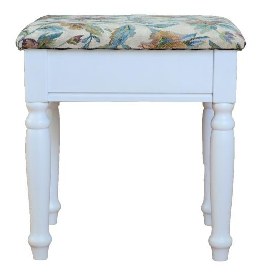 Simple dressing bench with fabric seat cushion