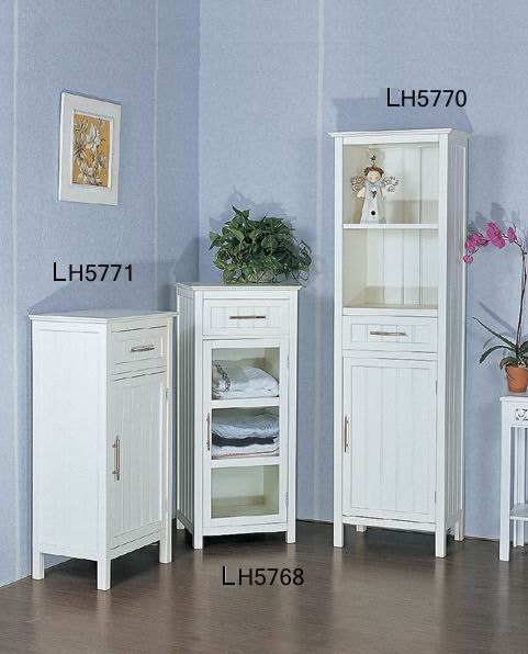 Antique white bathroom high, medium, low cabinet series combination