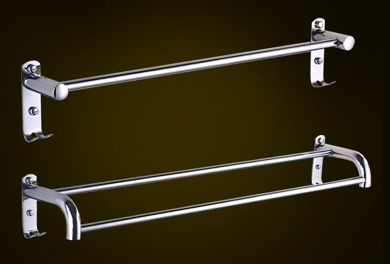 Stainless Steel Towel Rack in polished chrome
