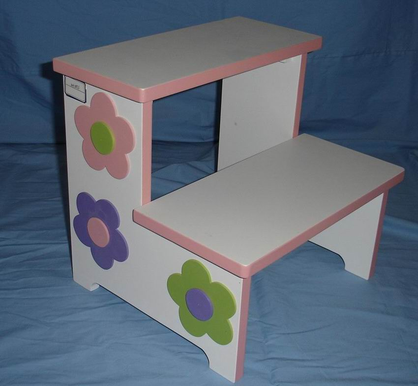 Kids Ladder Bench in Hand-Painting