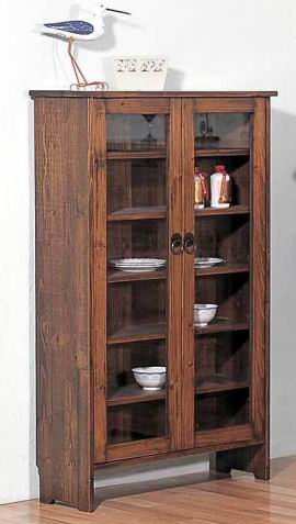 Solid Fir wood Cupboard in Antique natural finish