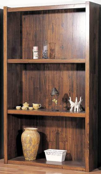 Solid Fir wood Bookcase with 2 layers shelf storages