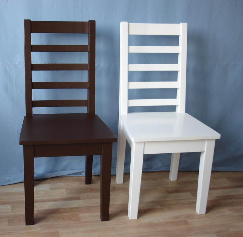 Solid Chinese Oak simple dining chair with 3 finished color