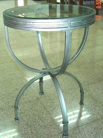 Metal Bar Table with 8mm Tempered Glass Top
