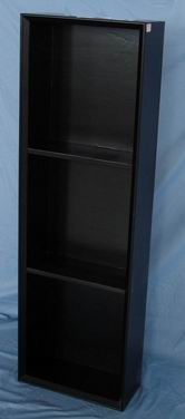 Faux Leather 3 tiers Shelf Storage with UK style
