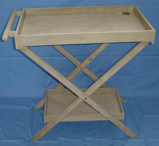 European Style Solid wood Kitchen Servicing Tray Table with two trays
