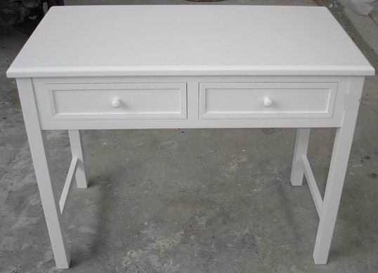 Antique White Finishing Practical Simple Office Desk with 2 drawers