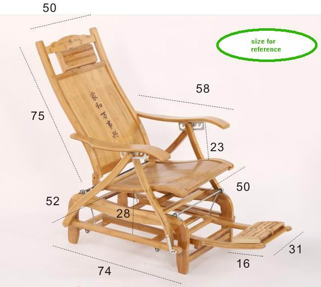 leisure chair size