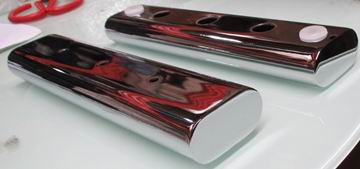Chromed Oval Tube sofa leg 160