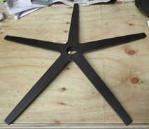 5 star base with matt black powder coating