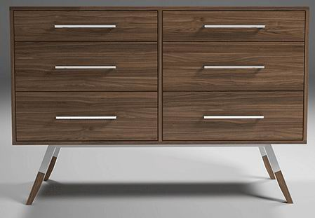 Mills Dresser with Nordic and Modern simple style