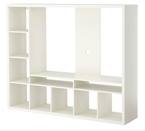 Black-Brown/Matt White TV Storage Unit