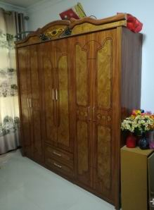Solid Pine Wardrobe with 6 doors+3 drawers