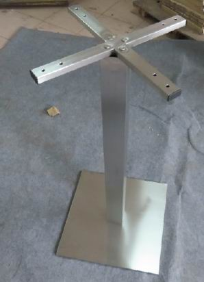 Metal Table Base frame(stainless steel)-Square column