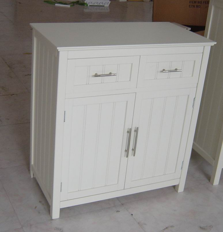 Antique white finish Cabinet 2drawers with 2 doors