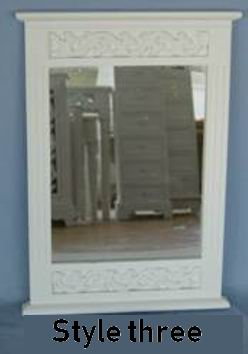 bathroom mirror with carved frame 3 styles for options