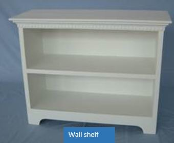 Antique White Finish Wall Shelf With