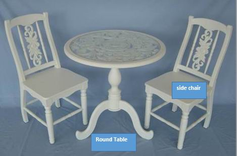 Round Table with Side Chair