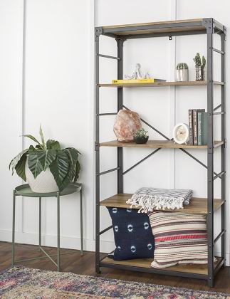 5 layers Angle Iron Urban Industrial Bookshelf