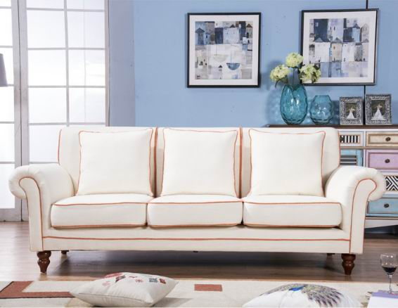 American Village cotton & lien sofa