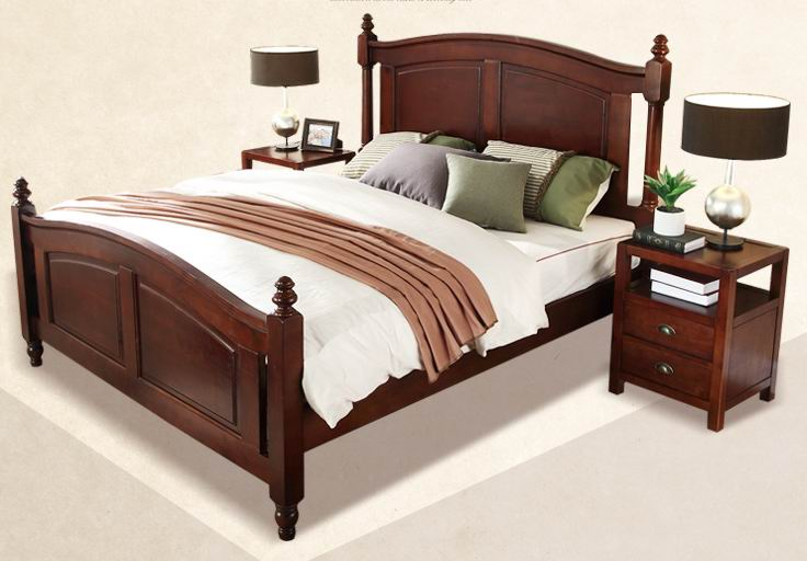American Village Solid Tulipifera Double bed