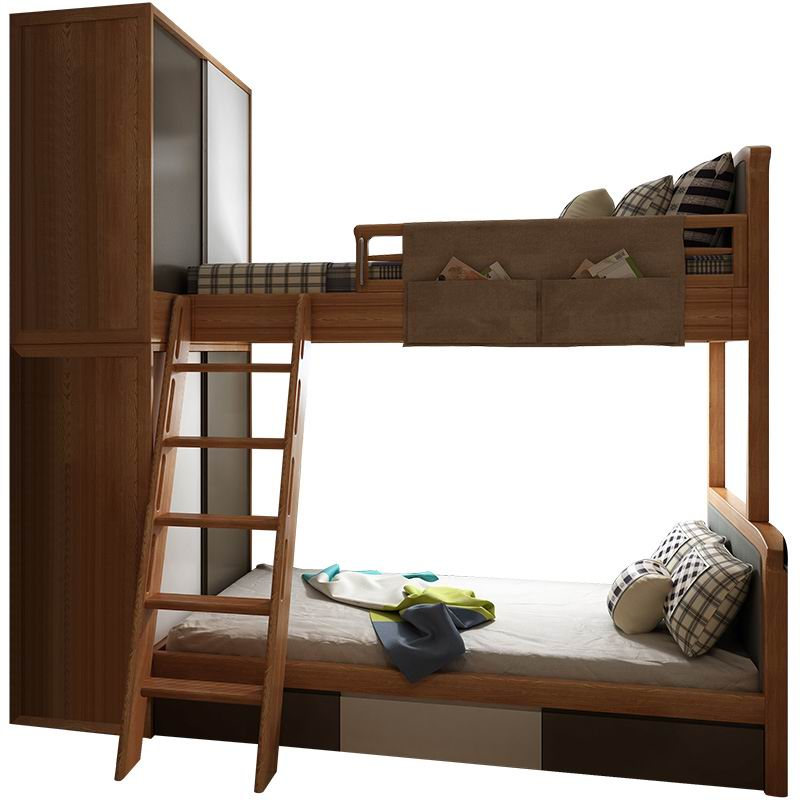 Nordic bunk bed w/2 storage cabinets