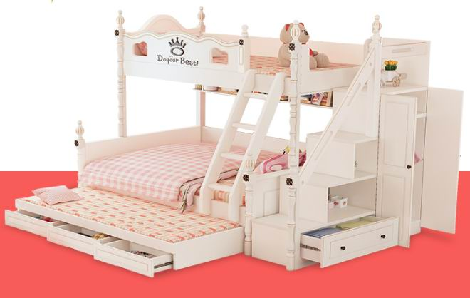 American house with Nordic style bunk bed