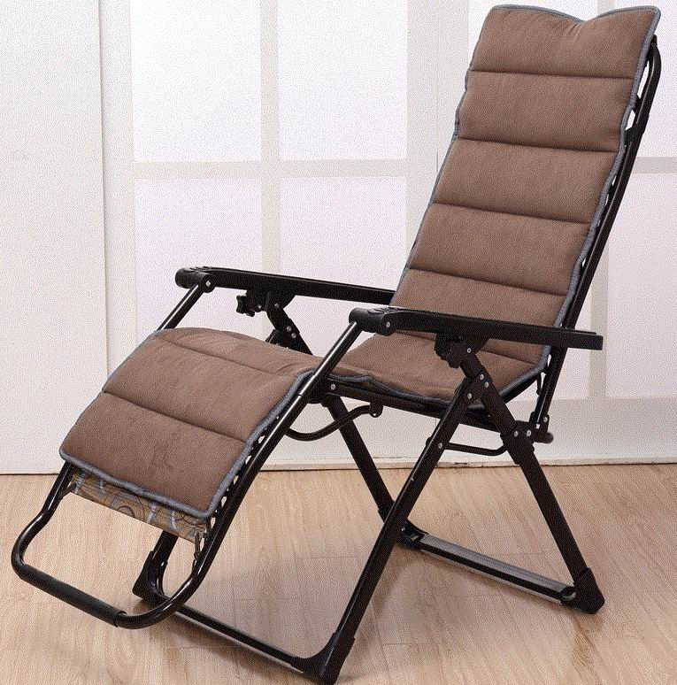 winter recliner with suede chair pad