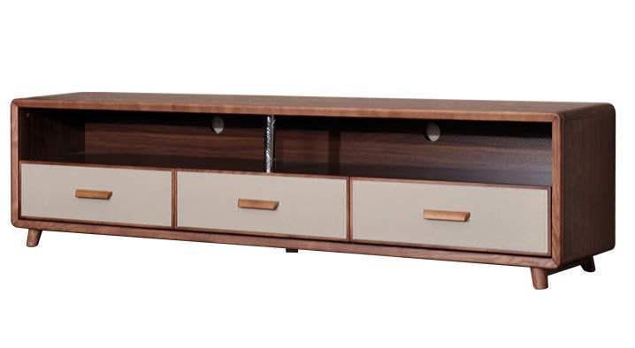 Solid ash wood TV cabinet of Living room