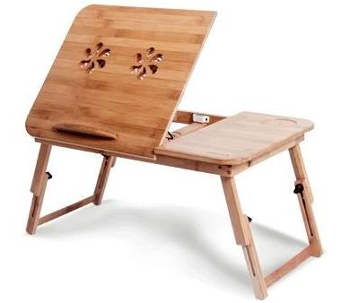 Bamboo Laptop table with Air-Cooled radiator