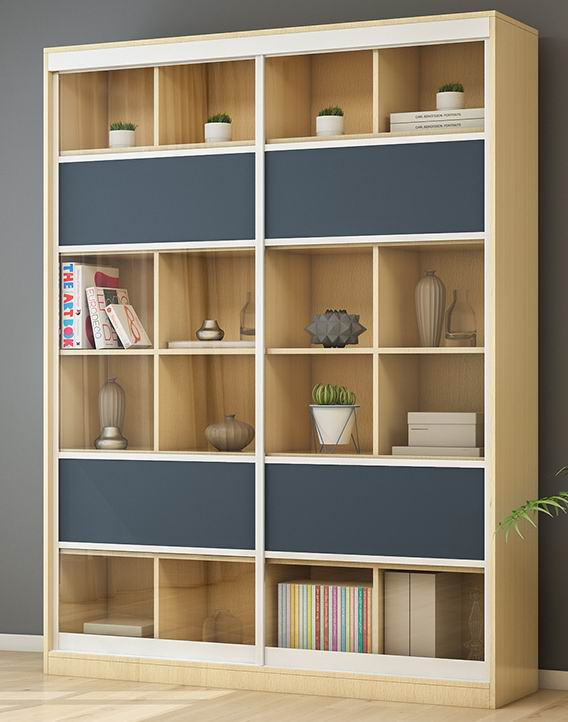 Nordic Modern Simple Desk And Bookcase Combination Lusty Home Limited