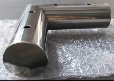 Polished Stainless steel leg,footboard L shaped