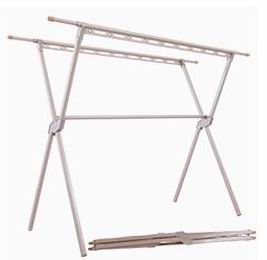 Aluminum Alloy telescopic double bar folding clothes rack/coat hanger