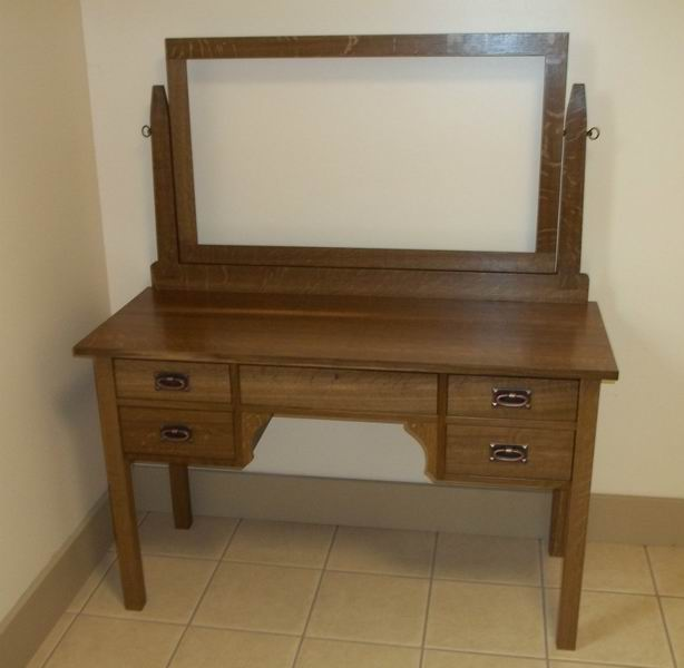 Bathroom solid oak multipurpose cabinet with mirror