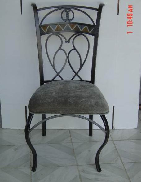 Metal frame with Poly back dining side chair